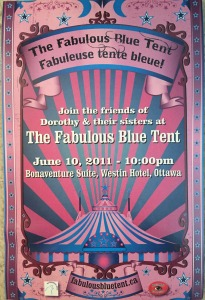 The invitation to the Fabulous Blue Tent party in 2011. See Chapter six in Conservative Confidential.