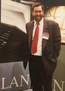 This picture was taken in the late 1980s when I was Vice-President of Sales for LAN Systems in New York City.