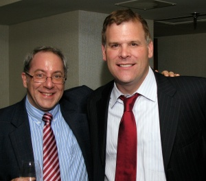 Here I am with John Baird at the first Fabulous Blue Tent party.