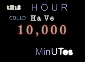 this hour could have 10000 minutes logo